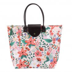 Painted & Pressed Flower Shopper Bag