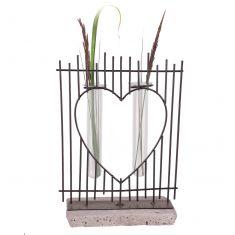 Love Heart Twin Test Tube Vase