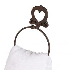 French Style Cast Iron Heart Towel Ring