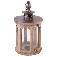 Shabby Chic Wooden Candle Lantern