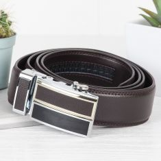 Men's Rich Truffle Brown Leather Belt