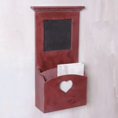 Wooden Wall Letter Rack and Noticeboard