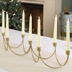 Ornate Golden Wave Candle Holder