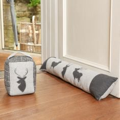 Winter Stag Draught Excluder and Doorstop