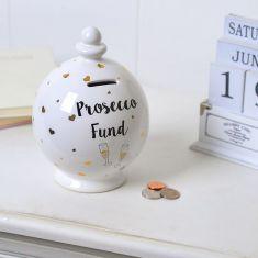Ceramic Prosecco Fund Money Pot