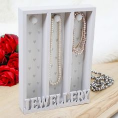 Grey Wooden Jewellery Stand