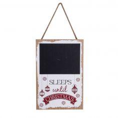 Sleeps Until Christmas Chalkboard Advent Calendar