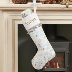 Woodland Animal Personalised Christmas Stocking