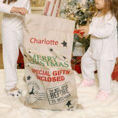 Reindeer Express Personalised Christmas Sack