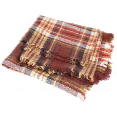 Oversized Brown Plaid Scarf
