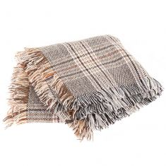 Traditional Beige Check Scarf