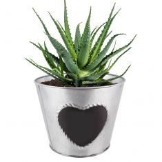 Zinc Love Heart Flower Planter