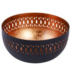 Black and Copper Decorative Bowl