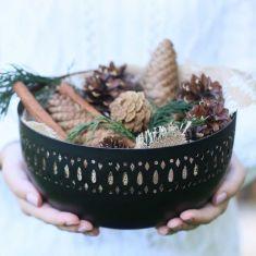 Black and Copper Decorative Bowl