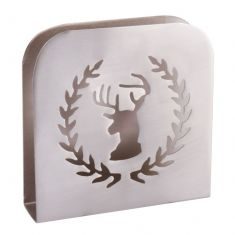 Silver Highland Stag Napkin Holder