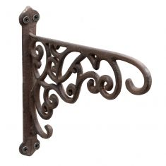 Ornate Scrolled Hanging Basket Bracket