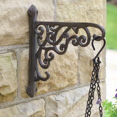 Ornate Scrolled Hanging Basket Bracket