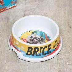 Surfer Dog French Food Bowl
