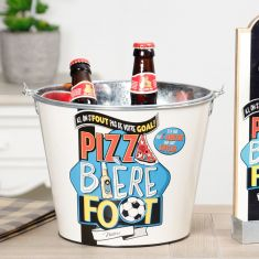 Pizza, Football and Beer Ice Bucket
