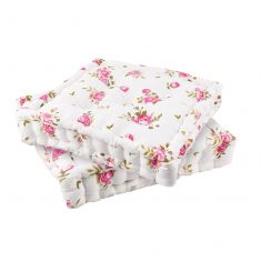 Set of 2 Helmsley Blush Country Garden Cushions