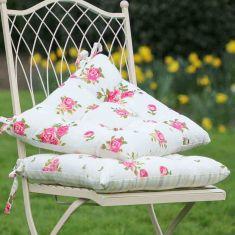 2 Helmsley Blush Vintage Floral Garden Seat Pads