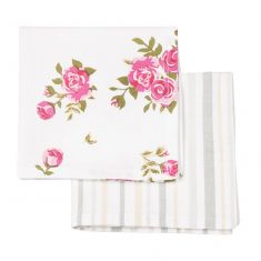 Set of 2 Helmsley Blush Vintage Cloth Napkins