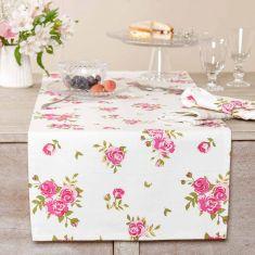 Helmsley Blush Vintage Floral Table Runner