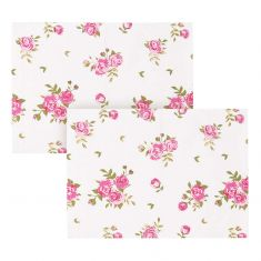 Set of 2 Helmsley Blush Vintage Floral Placemats