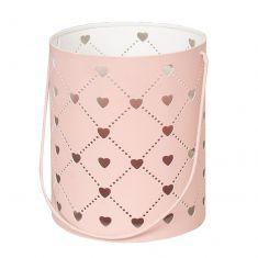 Pink Heart Candle Lantern