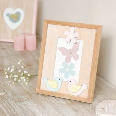 Shabby Chic Pastel Bird Photo Frame