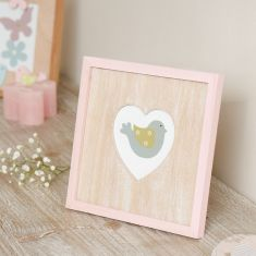 Pastel Pink Love Heart Photo Frame
