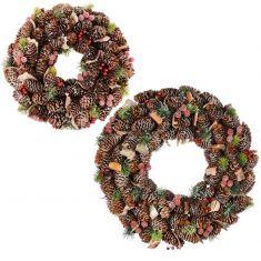 Frosted Berries Christmas Door Wreaths