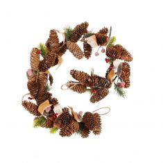 Frosted Berries Decorative Christmas Garland