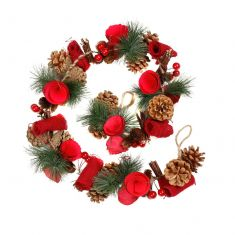 Luxury Winter Red Rose Christmas Garland