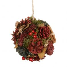 Cinnamon Pine Hanging Pomander Decoration