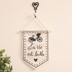 Life Is Beautiful Bicycle Wall Banner