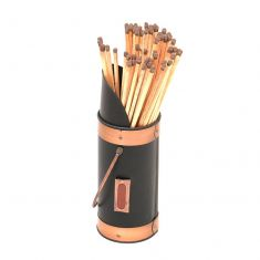 Copper & Black Matches Holder