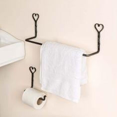 Wall Mounted Antique Heart Bathroom Set