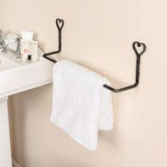 Wall Mounted Love Heart Towel Rail