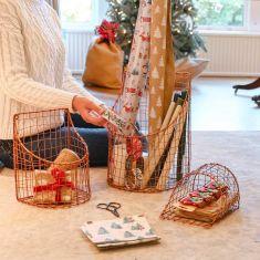 Set of 3 Christmas Crafts Storage Baskets