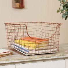 Copper Storage Basket