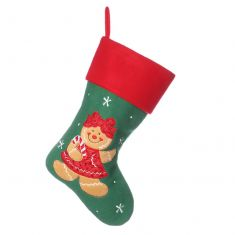 Gingerbread Lady Children's Christmas Stocking