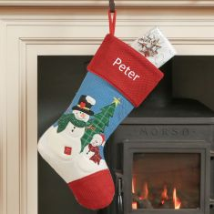 Patchy and Pete Personalised Snowmen Christmas Stocking