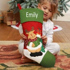Rudy The Reindeer Personalised Children's Christmas Stocking