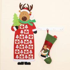 Festive Reindeer Stocking and Advent Calendar