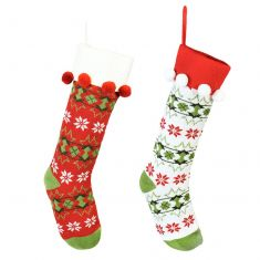 His and Hers Fair Isle Christmas Stockings