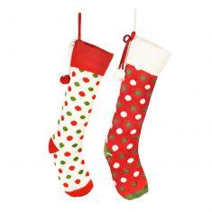 His and Hers Polka Dot Christmas Stockings