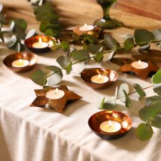 Autumn Glow Copper Tealight Holder Collection