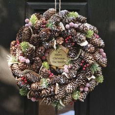 Personalised Frosted Berries Christmas Wreath 14