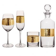 Luxury Gold Leaf Glassware